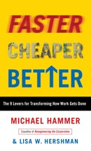 Book: Faster Cheaper Better